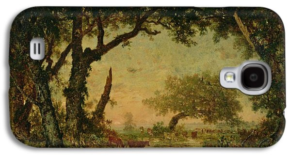 The Edge Of The Forest At Fontainebleau Galaxy S4 Case by Theodore Rousseau