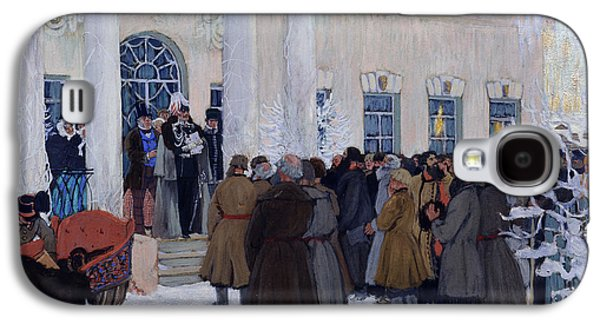 Free Speech Galaxy S4 Cases - The Emancipation of Russian Serfs Galaxy S4 Case by Boris Mihajlovic Kustodiev