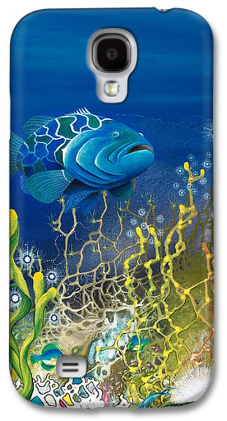 Angel Mermaids Ocean Galaxy S4 Cases - The Emerald Grouper Galaxy S4 Case by Lee Pantas