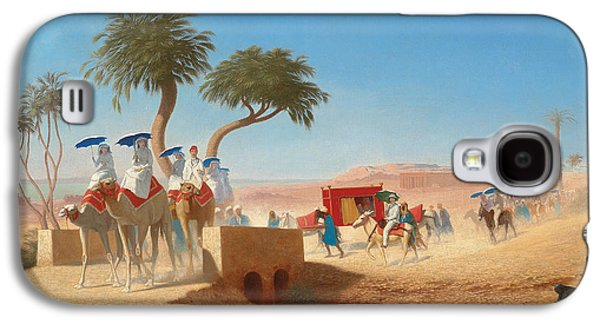 The Empress Eugenie Visiting The Pyramids Galaxy S4 Case by Charles Theodore Frere