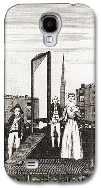 Charlotte Drawings Galaxy S4 Cases - The Execution Of Charlotte Corday Galaxy S4 Case by Ken Welsh