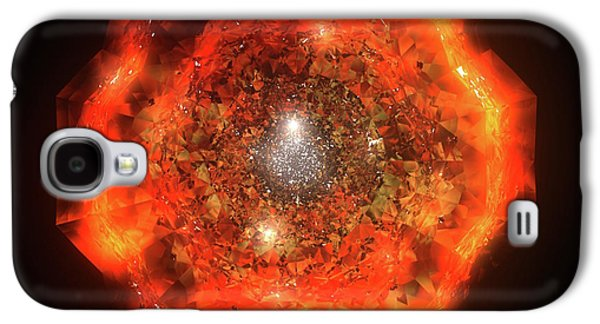 Animation Galaxy S4 Cases - The Eye of Cyma - Fire and Ice - Frame 146 Galaxy S4 Case by Jules Gompertz
