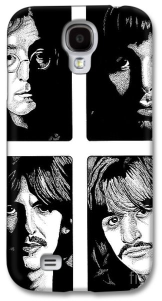 Music Drawings Galaxy S4 Cases - The Fab Four Galaxy S4 Case by Cory Still