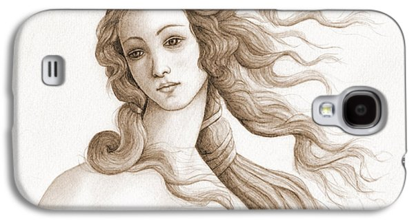 The Face Of A Goddess In Sepia Galaxy S4 Case by Stevie the floating artist