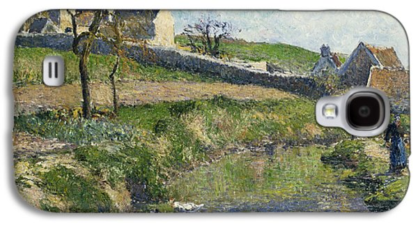 The Farm At Osny Galaxy S4 Case by Camille Pissarro