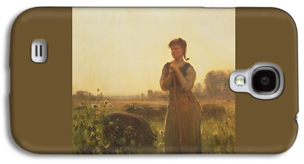 The Farm Girl Galaxy S4 Case by Arthur Hacker