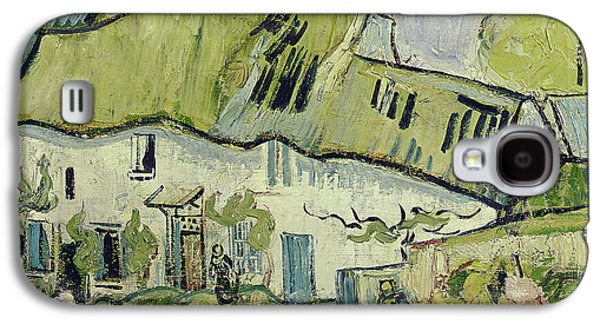 Chimneys Galaxy S4 Cases - The Farm in Summer Galaxy S4 Case by Vincent van Gogh