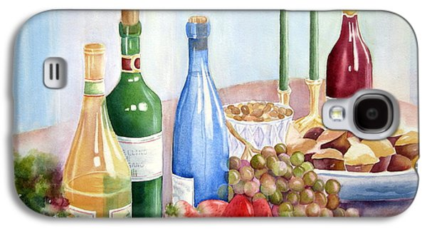 Italian Wine Paintings Galaxy S4 Cases - The Feast Galaxy S4 Case by Deborah Ronglien