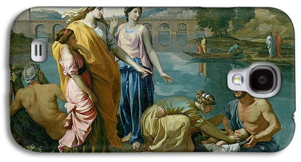 Pharaoh Galaxy S4 Cases - The Finding of Moses Galaxy S4 Case by Nicolas Poussin