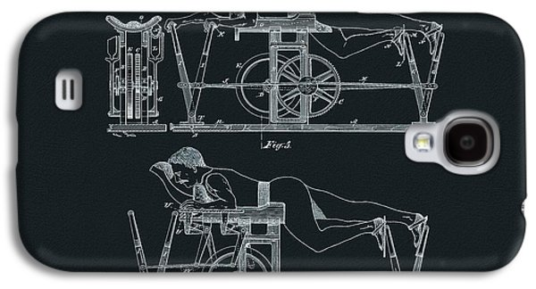 The First Exercise Machine Illustration Galaxy S4 Case by Dan Sproul