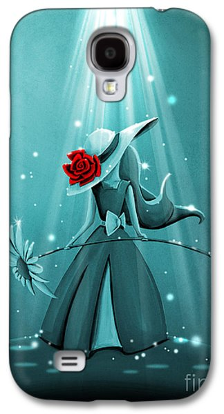 Dreamscape Galaxy S4 Cases - The Flower Girl - Remixed Galaxy S4 Case by Cindy Thornton