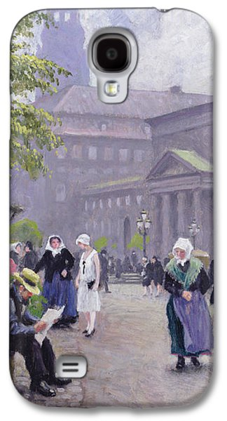 Green Galaxy S4 Cases - The Flower Seller Galaxy S4 Case by Paul Fischer