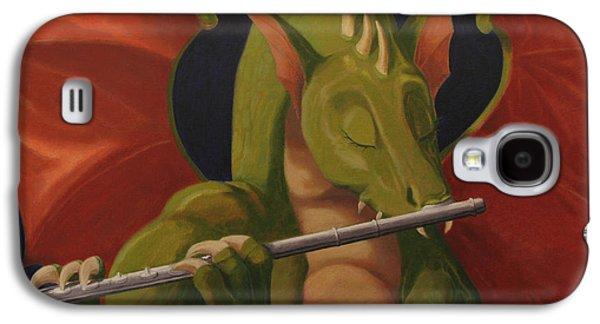Leonard Filgate Paintings Galaxy S4 Cases - The Flute Player Galaxy S4 Case by Leonard Filgate