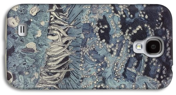 Abstract Collage Drawings Galaxy S4 Cases - The Fog Rolled In Galaxy S4 Case by Lauren Prince