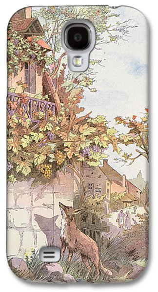 The Fox And The Grapes Galaxy S4 Case by Georges Fraipont