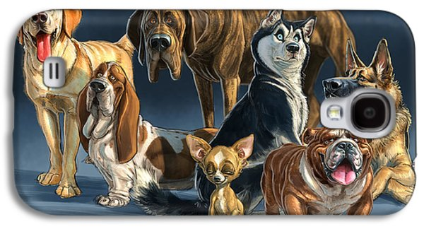 Pet Digital Art Galaxy S4 Cases - The Gang 2 Galaxy S4 Case by Aaron Blaise