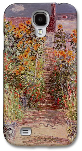 Bed Galaxy S4 Cases - The Garden at Vetheuil Galaxy S4 Case by Claude Monet