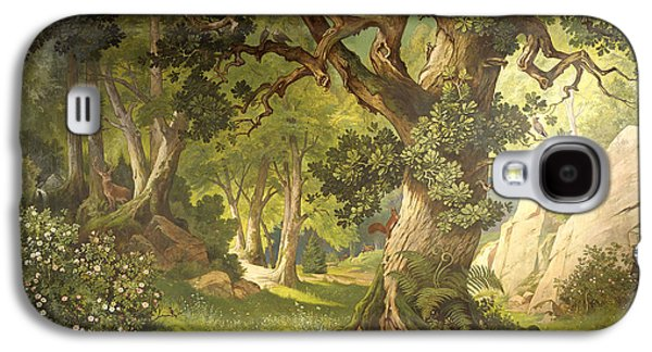 The Garden Of The Magician Klingsor, From The Parzival Cycle, Great Music Room Galaxy S4 Case by Christian Jank