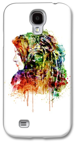 The Girl Is A Dj Galaxy S4 Case by Marian Voicu