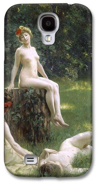 Lesbian Paintings Galaxy S4 Cases - The Glade Galaxy S4 Case by Julius Leblanc Stewart
