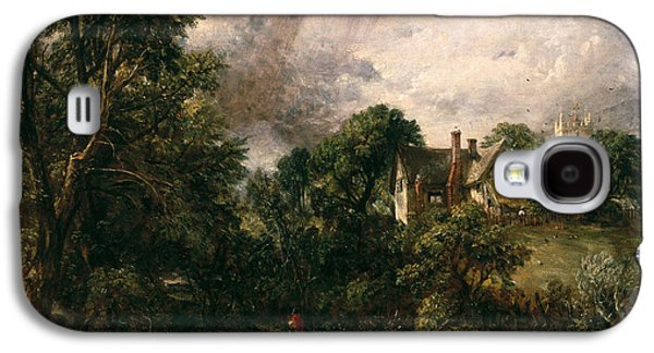 Field. Cloud Paintings Galaxy S4 Cases - The Glebe Farm Galaxy S4 Case by John Constable