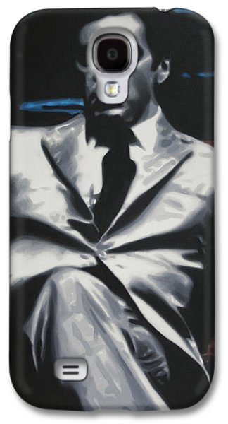 Boss Paintings Galaxy S4 Cases - The Godfather 2013 Galaxy S4 Case by Luis Ludzska