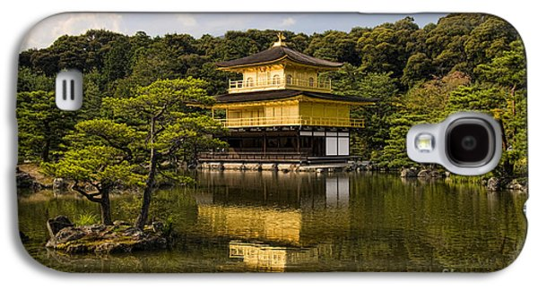 Landscapes Photographs Galaxy S4 Cases - The Golden Pagoda in Kyoto Japan Galaxy S4 Case by David Smith