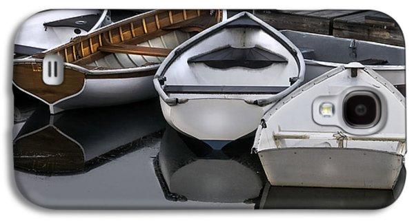 Mid-coast Maine Galaxy S4 Cases - Skiffs on Placid Waters-Coastal Maine Galaxy S4 Case by Thomas Schoeller