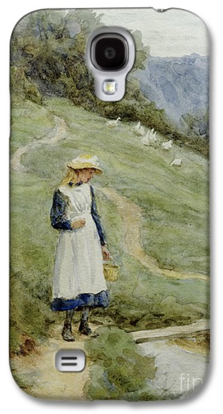 The Goose-girl  Galaxy S4 Case by Helen Allingham