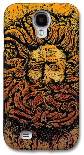 The Gorgon Man Celtic Snake Head Galaxy S4 Case by Larry Butterworth