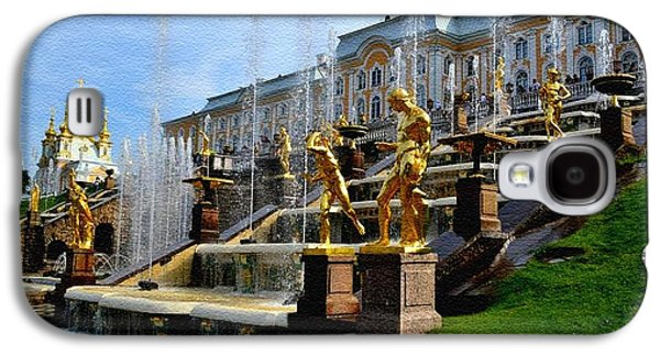 Abstract Digital Paintings Galaxy S4 Cases - The Grand Cascade Peterhof Palace St. Peterburg Russia Catus 1 no. 1 A H b Galaxy S4 Case by Gert J Rheeders