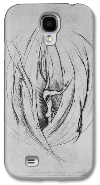 Drypoint Galaxy S4 Cases - The Grave I Galaxy S4 Case by Kiradee Ketakinta