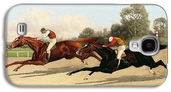 Race Horse Galaxy S4 Cases - the Great Ten Thousand Dollar Match Galaxy S4 Case by Henry Stull