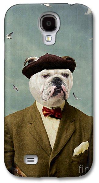 Photoshop Digital Galaxy S4 Cases - The Grumpy Man Galaxy S4 Case by Martine Roch