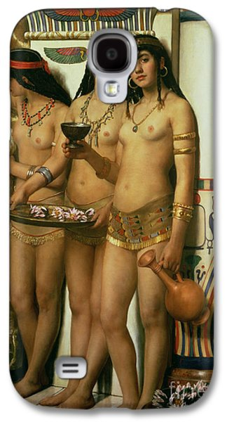 Columns Galaxy S4 Cases - The Handmaidens of Pharaoh Galaxy S4 Case by John Collier