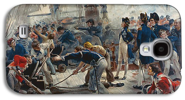 Historic Ship Galaxy S4 Cases - The Hero of Trafalgar Galaxy S4 Case by William Heysham Overend