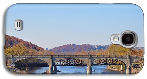The Hill To Hill Bridge - Bethlehem Pa Galaxy S4 Case by Bill Cannon
