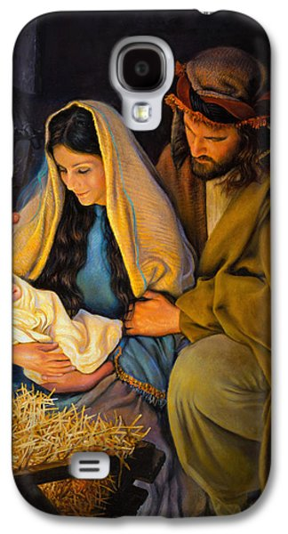 Christ Child Galaxy S4 Cases - The Holy Family Galaxy S4 Case by Greg Olsen