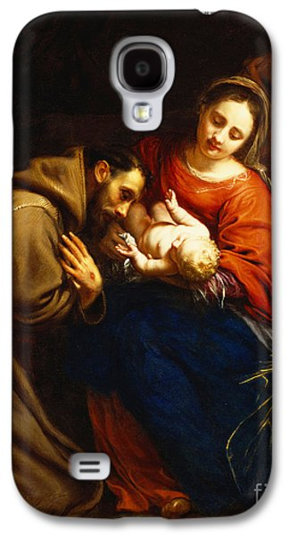 The Holy Family With Saint Francis Galaxy S4 Case by Jacob van Oost