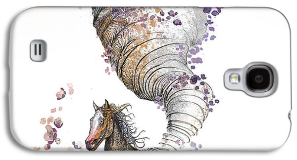 Horses Digital Galaxy S4 Cases - The Horse Galaxy S4 Case by Kristina Vardazaryan