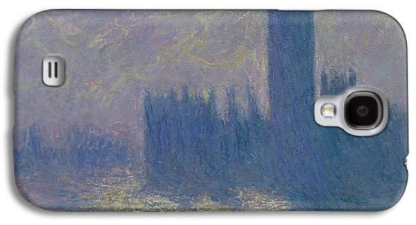 The Houses Of Parliament Stormy Sky Galaxy S4 Case by Claude Monet