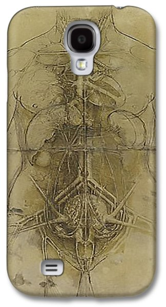 Brain Paintings Galaxy S4 Cases - The Human Organ System Galaxy S4 Case by James Christopher Hill