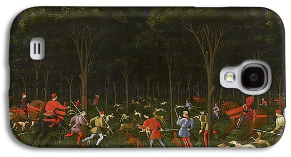 The Hunt In The Forest Galaxy S4 Case by Paolo Uccello