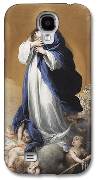 The Immaculate Conception  Galaxy S4 Case by Bartolome Esteban Murillo