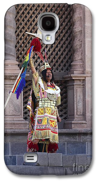Person Galaxy S4 Cases - The Inca Celebrates Inti Raymi Galaxy S4 Case by James Brunker