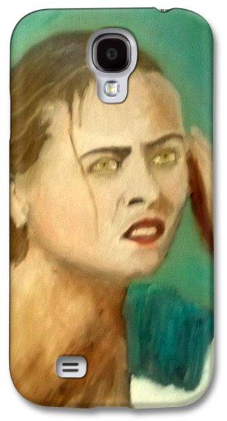 The Intense Girl Galaxy S4 Case by Peter Gartner