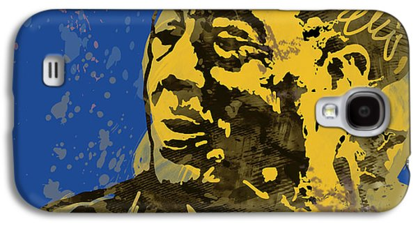 The Intimate Ellington Pop Stylised Art Sketch Poster Galaxy S4 Case by Kim Wang