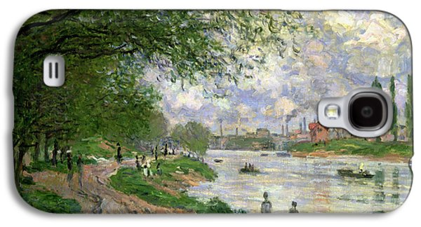 Pathway Paintings Galaxy S4 Cases - The Island of La Grande Jatte Galaxy S4 Case by Claude Monet