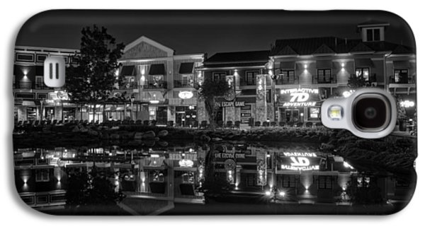 Light Galaxy S4 Cases - The Island Shops in Black and White Galaxy S4 Case by Greg Mimbs