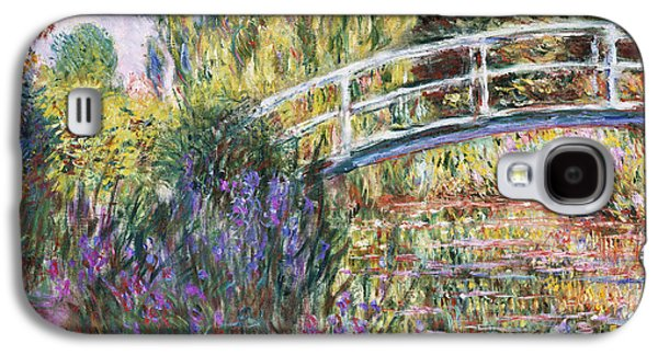 The Japanese Bridge Galaxy S4 Case by Claude Monet